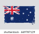 australian flat flag   vector... | Shutterstock .eps vector #669787129