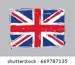 united kingdom flat flag  ... | Shutterstock .eps vector #669787135