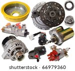 set of auto parts. isolated on... | Shutterstock . vector #66979360