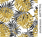 tropical seamless pattern with... | Shutterstock .eps vector #669797941