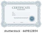 design certificate template | Shutterstock .eps vector #669812854