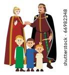 noble family on white | Shutterstock .eps vector #66982348