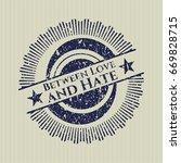 blue between love and hate... | Shutterstock .eps vector #669828715