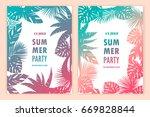 beautiful tropical banners....   Shutterstock .eps vector #669828844