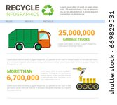 recycle infographic banner... | Shutterstock .eps vector #669829531