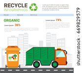 recycle infographic banner... | Shutterstock .eps vector #669829579