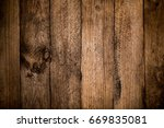 rustic wood planks background | Shutterstock . vector #669835081