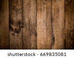 rustic wood planks background | Shutterstock . vector #669835081