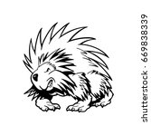 hedgehog . animal cartoon... | Shutterstock .eps vector #669838339