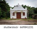 Small Church In Village In The...