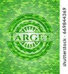 target realistic green emblem.... | Shutterstock .eps vector #669844369