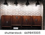 old phone booth | Shutterstock . vector #669845005