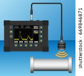 portable ultrasonic flaw... | Shutterstock .eps vector #669846871