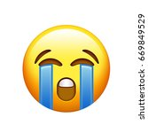 the emoji yellow unhappy face... | Shutterstock . vector #669849529