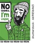 poster bearded hipster... | Shutterstock .eps vector #669856465