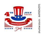 modern patriotic 4th of july... | Shutterstock .eps vector #669856591
