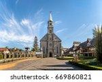 saint peter stone church  ... | Shutterstock . vector #669860821