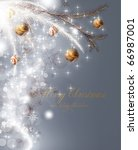 christmas background with... | Shutterstock .eps vector #66987001