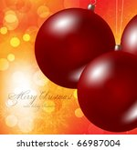 christmas background with... | Shutterstock .eps vector #66987004