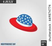 straw hat icon in trendy flat...