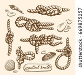 detailed drawings of nautical... | Shutterstock .eps vector #669875257