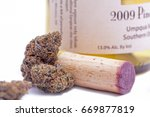 cannabis and wine | Shutterstock . vector #669877819