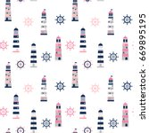 simple minimal vector pattern... | Shutterstock .eps vector #669895195