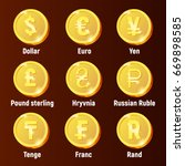 currency golden logo coins ...
