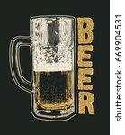 retro design poster beer  with... | Shutterstock .eps vector #669904531