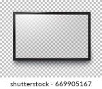 photo frame or black led... | Shutterstock .eps vector #669905167