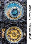 prague  prague astronomical... | Shutterstock . vector #669905335