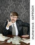 businessman nerd accountant... | Shutterstock . vector #66990604