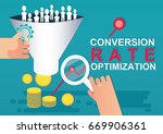 conversion rate optimization ... | Shutterstock .eps vector #669906361