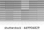 one supermarket corridor with... | Shutterstock . vector #669906829