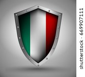 shield with the image of the... | Shutterstock .eps vector #669907111