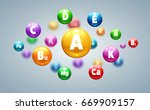 vitamins colorfull balls  | Shutterstock .eps vector #669909157