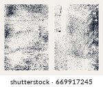 monochrome abstract vector... | Shutterstock .eps vector #669917245