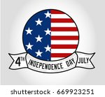 independence day of america | Shutterstock .eps vector #669923251