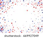 july 4 background with stardust ... | Shutterstock .eps vector #669927049