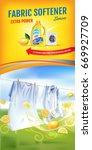 lemon fragrance fabric softener ... | Shutterstock .eps vector #669927709