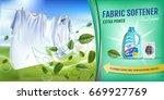 mint fragrance fabric softener...   Shutterstock .eps vector #669927769