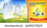 lemon fragrance fabric softener ... | Shutterstock .eps vector #669927829