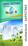 mint fragrance fabric softener... | Shutterstock .eps vector #669927865