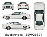 sports car vector mock up.... | Shutterstock .eps vector #669929824