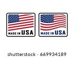 made in usa sign. vector...   Shutterstock .eps vector #669934189