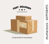 vector illustration with carton ... | Shutterstock .eps vector #669938491