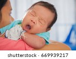 mother and her little baby at... | Shutterstock . vector #669939217
