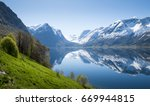 panorama of fjord in norway | Shutterstock . vector #669944815