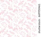 cute pink floral print of leaf. ... | Shutterstock .eps vector #669950461