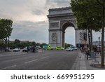 champs elysees  paris  france   ...   Shutterstock . vector #669951295